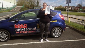 Malaina passed her practical driving test with MAG Driving School, Bridlington