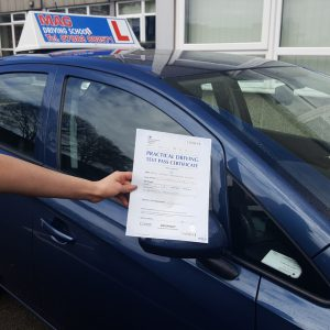 Well done Lauren on a great pass